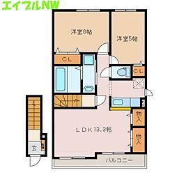 サニー レジデンスT2[2階]の間取り