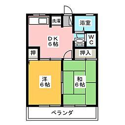 レトアI[2階]の間取り