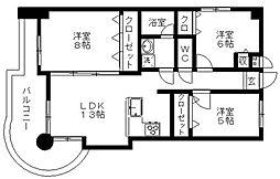 ハイフォルム寺塚[552号室]の間取り