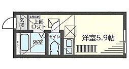 神奈川県横浜市鶴見区矢向5丁目の賃貸アパートの間取り