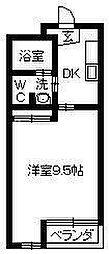 徳島県徳島市中常三島町2丁目の賃貸アパートの間取り