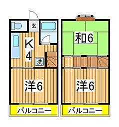 [テラスハウス] 千葉県柏市篠籠田 の賃貸【/】の間取り