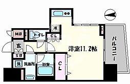 セイワパレス京町堀 6階ワンルームの間取り