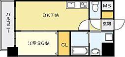 ERIOS COURT香春口[7階]の間取り
