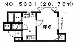 ウエストコート[1階]の間取り