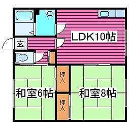 第三小林アパート[206号室]の間取り