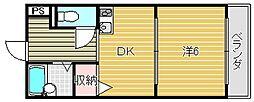 大阪府茨木市中総持寺町の賃貸マンションの間取り