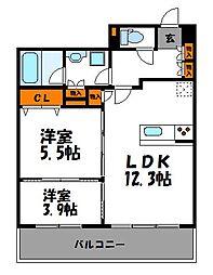 ルキシア薬院[903号室]の間取り