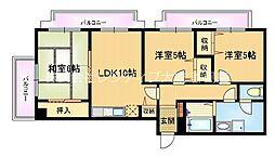 Osaka Metro谷町線 都島駅 徒歩10分の賃貸マンション 8階3LDKの間取り