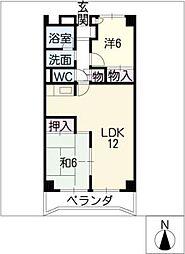 アビタシオン天子田[4階]の間取り
