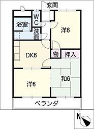 シャトレー松阪[2階]の間取り