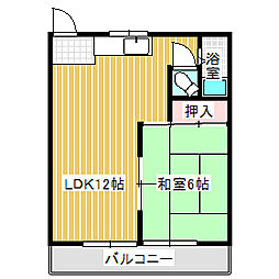 愛知県名古屋市中川区万場2丁目の賃貸マンションの間取り