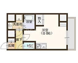エスパシオ・コモド大阪新町[504号室]の間取り