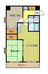 ロイヤル21[3階]の間取り