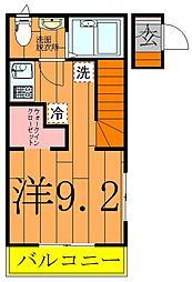 つくしが丘2丁目新築アパート[201号室]の間取り