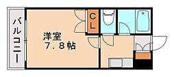 福岡県福岡市城南区松山1丁目の賃貸マンションの間取り