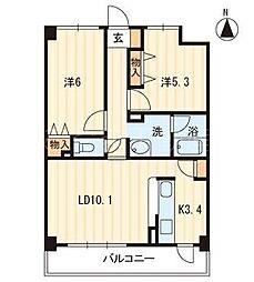 ソレイユ屋島[2階]の間取り