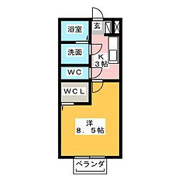コンフォート羽山[1階]の間取り