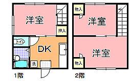 茨城県鉾田市玉田の賃貸アパートの間取り