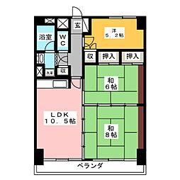 ウエストパレスマンション[10階]の間取り
