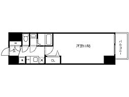 Osaka Metro中央線 九条駅 徒歩2分の賃貸マンション 7階1Kの間取り