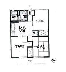 神奈川県横浜市戸塚区上柏尾町の賃貸アパートの間取り