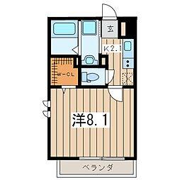 カサール[2階]の間取り