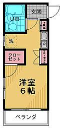 ミヤ・クレール百草[206号室]の間取り
