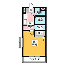 プレジール[3階]の間取り
