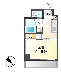 グラシア鶴舞[2階]の間取り