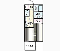 東京都杉並区荻窪3丁目の賃貸アパートの間取り