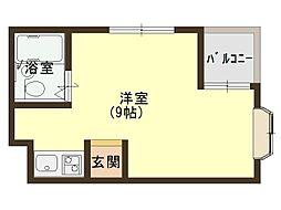 大阪府大阪市中央区森ノ宮中央2丁目の賃貸マンションの間取り