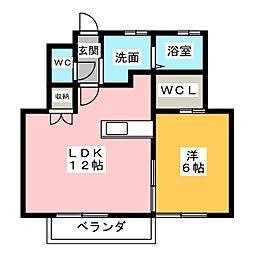 SUN HOUSE[2階]の間取り