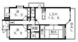 ヴェルデサコート桜ヶ丘[501号室号室]の間取り