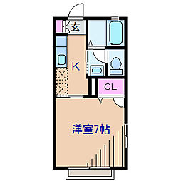 神奈川県横浜市港北区菊名5丁目の賃貸アパートの間取り