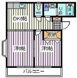 埼玉県さいたま市南区白幡2丁目の賃貸アパートの間取り