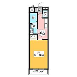 ウェルアップ新浜[1階]の間取り