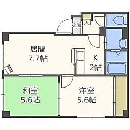 鶴巻マンション[2階]の間取り