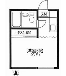小日向アパートメント[204号室]の間取り