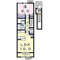 カレントIII[2階]の間取り