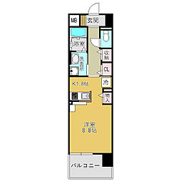 奈良県大和高田市大中東町の賃貸マンションの間取り