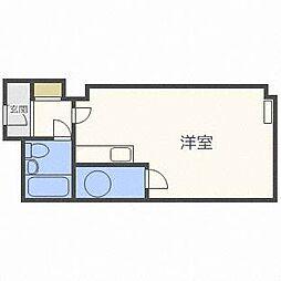 北海道札幌市中央区南二条東1丁目の賃貸マンションの間取り