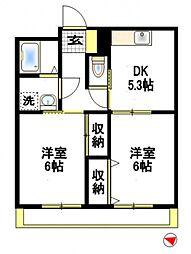 メープルハイツA[2階]の間取り