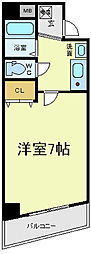 アヴェニール寺田町[7階]の間取り