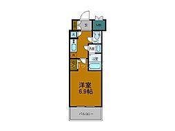 JR大阪環状線 弁天町駅 徒歩8分の賃貸マンション 11階1Kの間取り
