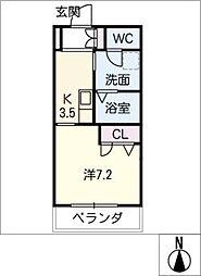 Noble Court東別院[4階]の間取り