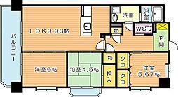 タウンコートIII[7階]の間取り