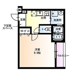 フジパレス瑞光駅東 1階1Kの間取り