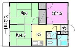 栗田荘[205 号室号室]の間取り
