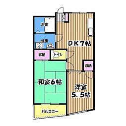 レジデンスヤマカ[2階]の間取り